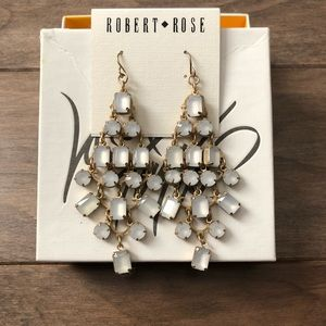 Robert Rose Chandelier earrings